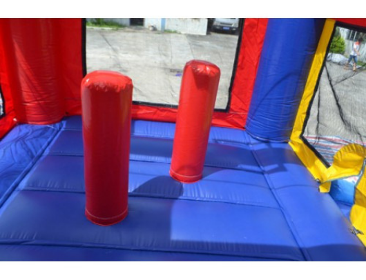rainbow module bounce house with inflatable pop up obstacles