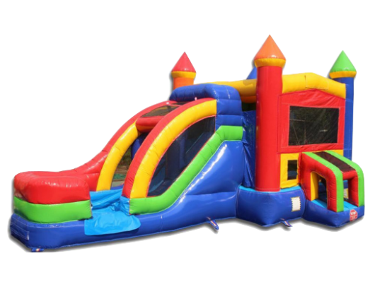 commercial bounce house combo with slide