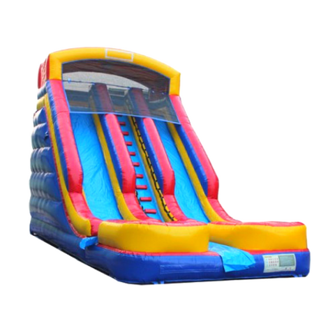 commercial inflatable water slide with dual lanes by moonwalk usa