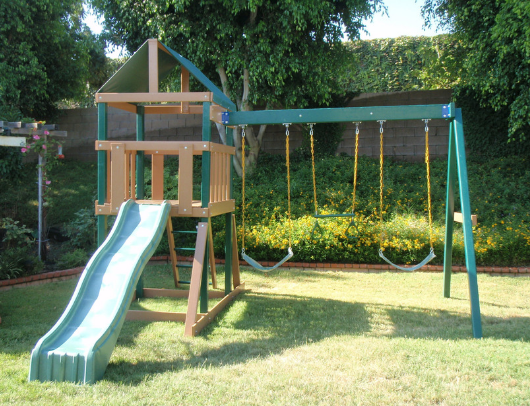 congo safari outdoor swing set by kidwise