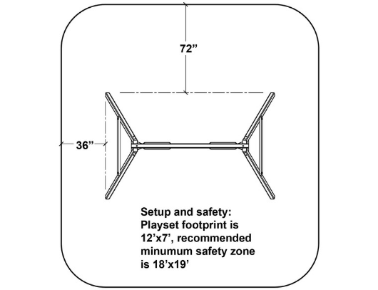 congo swing central swing set dimensions