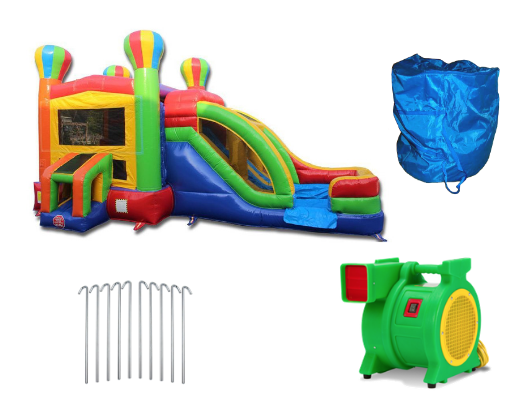 balloon combo commercial bounce house with blower and accessories