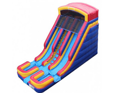 commercial inflatable water slide with dual lanes