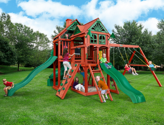 gorilla playsets five star deluxe swing set
