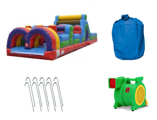 accessories included when you buy the inflatable obstacle course