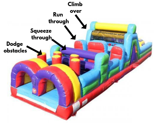 inflatable obstacle course activities