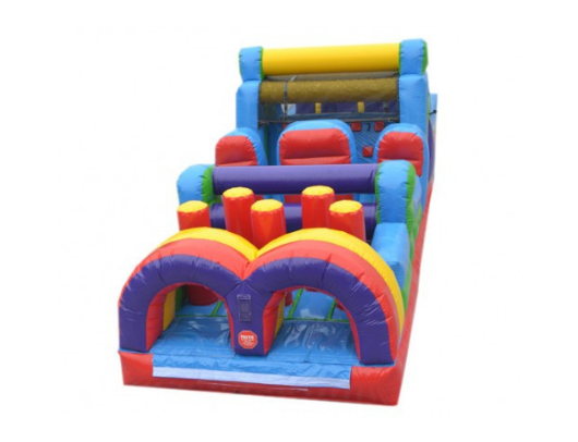 inflatable obstacle course that is 40'L by moonwalk usa