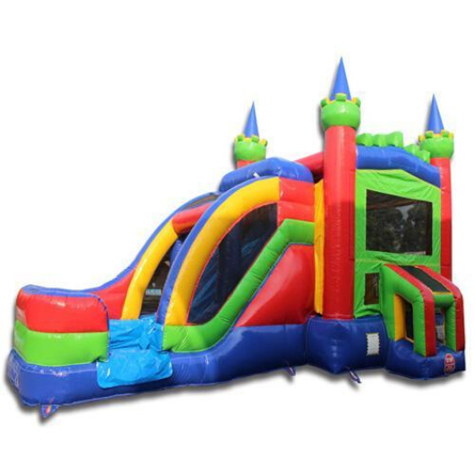 2-Lane Commercial Bounce House Combo Wet n Dry