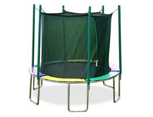 magic circle 12' trampoline with safety enclosure