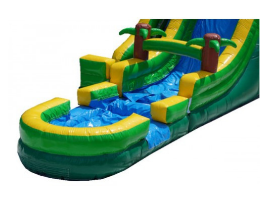 palm tree screamer inflatable slide with removable pool