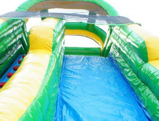 tropical screamer inflatable slide can be used both wet and dry