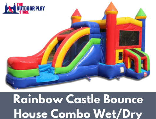 rainbow castle commercial bounce house combo for sale