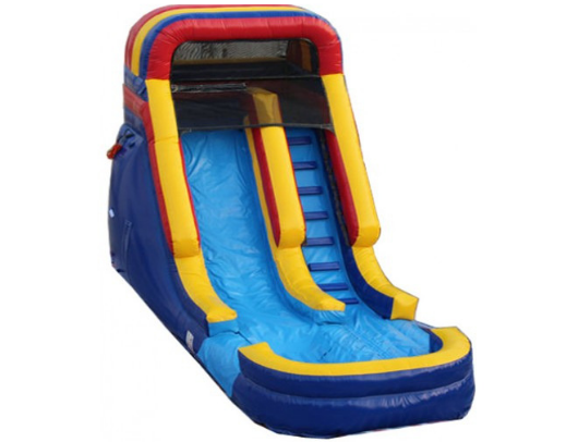commercial inflatable water slide in rainbow color