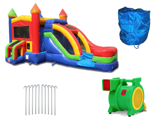rainbow module combo bouncer with blower and accessories