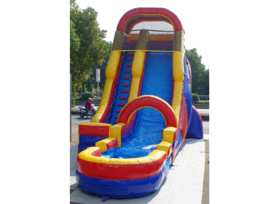 screamer inflatable water slide is very tall