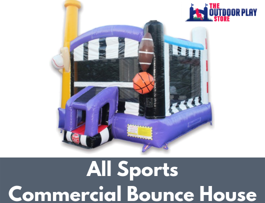 14' sports themed commercial bounce house for sale