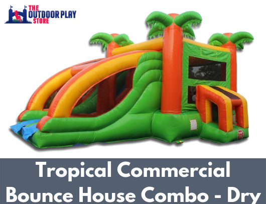 tropical commercial combo bounce house for sale