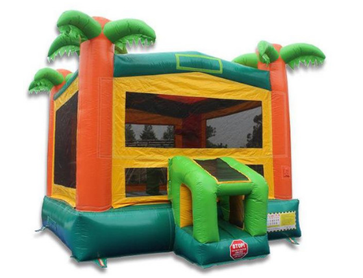 palm tree commercial grade bounce house