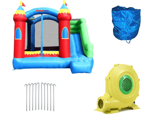 what is included when you buy the bounceland royal palace bounce house with slide