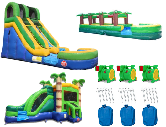 commercial bounce house package with blowers