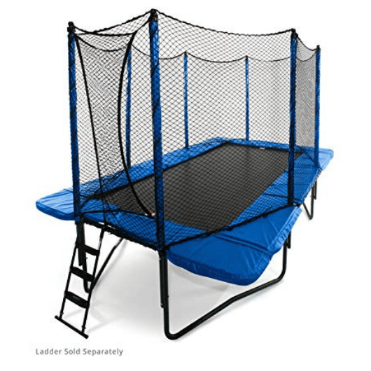 StagedBounce 10' x 17' Rectangle Trampoline with Enclosure