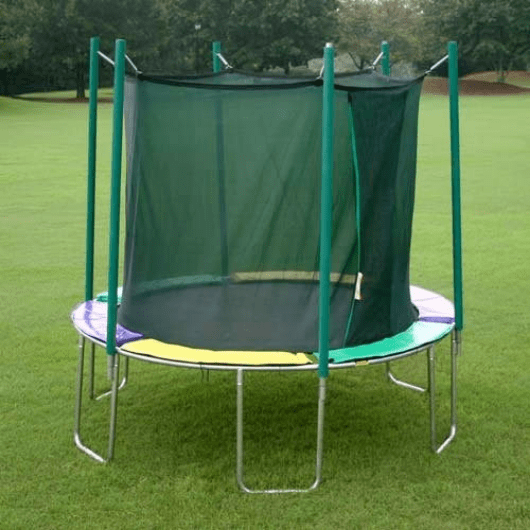 12' round magic circle trampoline with safety enclosure
