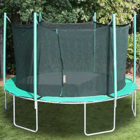 13.5' round magic circle trampoline with enclosure