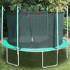 Image of 13.5' round magic circle trampoline with enclosure