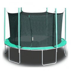 13.5' round magic circle trampoline with safety cage