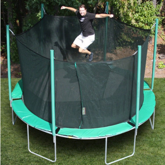 13.5' round magic circle trampoline with safety enclosure