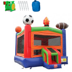 Commercial Bounce House - 14' Sports Module Commercial Bounce House - The Outdoor Play Store
