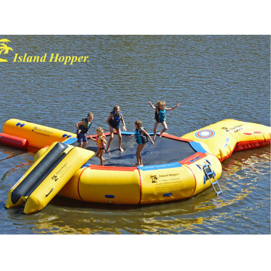 17ft Island Hopper Bounce N Splash Water Bouncer Water Park