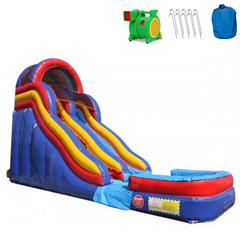 18'H Double Dip Commercial Inflatable Slide - RBY -