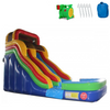 Image of 18'H Double Dip Commercial Inflatable Slide - Rainbow - The Outdoor Play Store