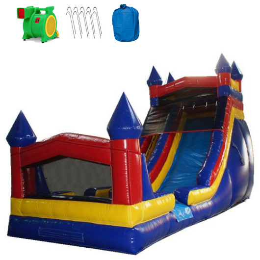 Commercial Bounce House - 18'H Castle Module Inflatable Slide Wet/Dry -The Outdoor Play Store