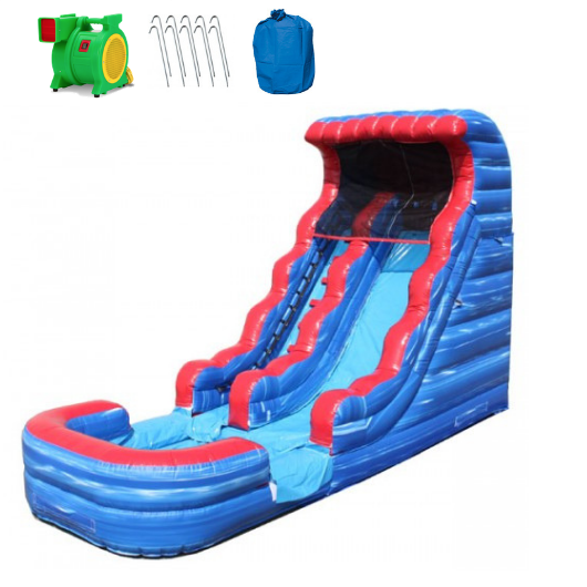 Inflatable Slide - 18'H Tsunami Inflatable Slide Wet/Dry - The Bounce House Store