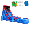 Image of 18'h tsunami screamer commercial inflatable slide wet or dry