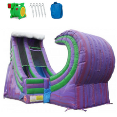 Inflatable Slide - 19'H Rapid Inflatable Slide Wet/Dry - The Bounce House Store