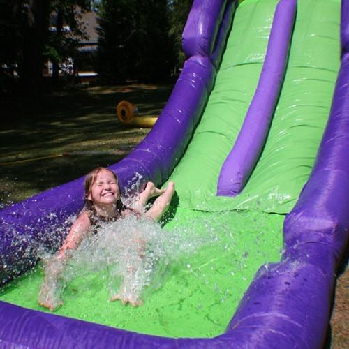 Residential Bounce House - Bounceland Double Water Slide - The Bounce House Store