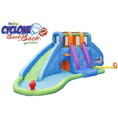 Residential Bounce House - KidWise Cyclone2 Back to Back® Water Park and Lazy River - The Bounce House Store
