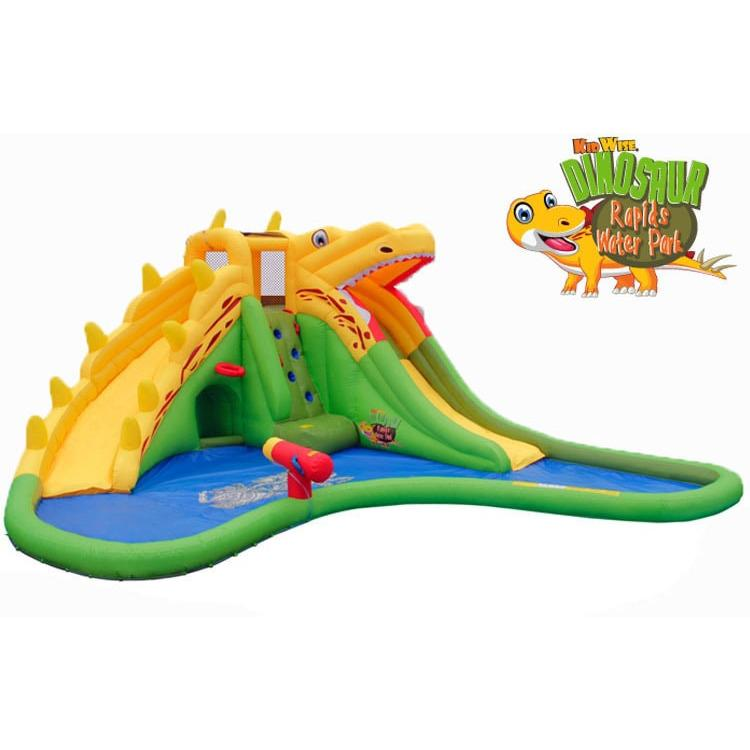 KidWise Dinosaur Rapids Back to Back® Inflatable Water Park