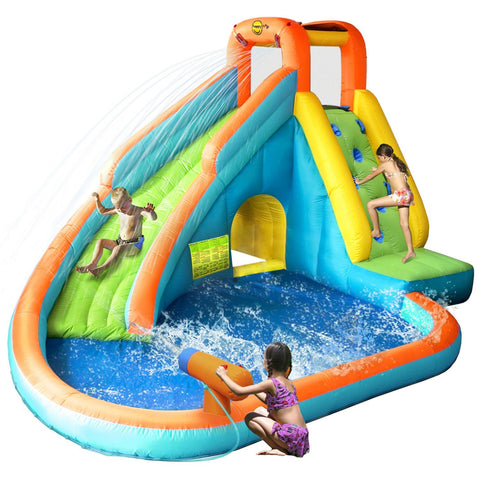 Residential Bounce House - KidWise Splash Landing Waterslide With Water Cannon - The Bounce House Store