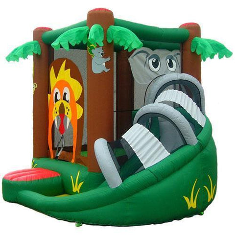 KidWise Safari Bounce House With Slide