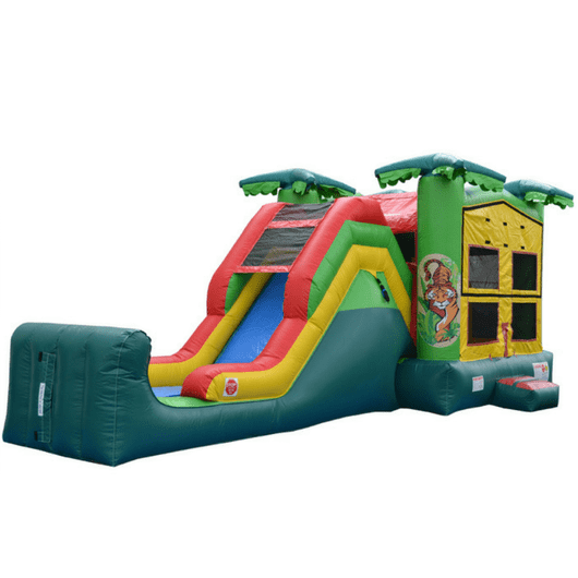 Commercial Bounce House - 5 in 1 Super Combo Tropical Bounce House - The Bounce House Store