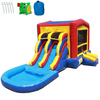 Image of 2 Lane Classic Module Bounce House Combo with Pool