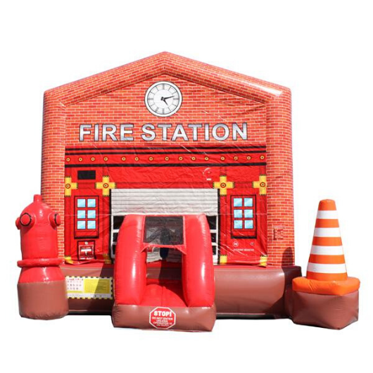 14' Commercial Bounce HOuse Fire Station