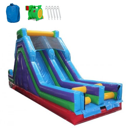 Commercial Inflatable Dual Slide Piece 34'L