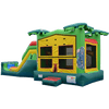Image of Commercial Bounce House - 5 in 1 Super Combo Tropical Bounce House - The Bounce House Store