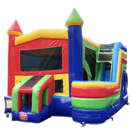 commercial bounce house 4 in 1 combo with slide