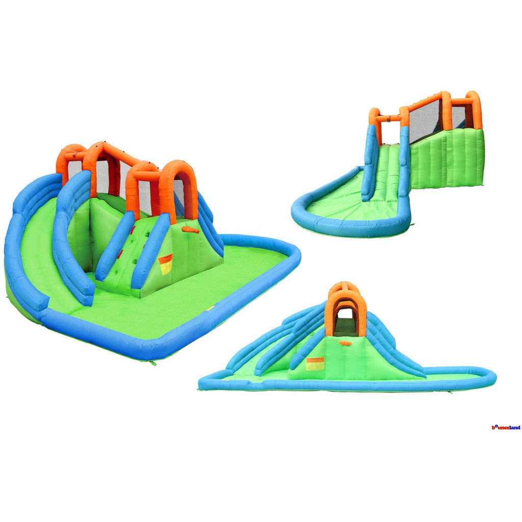 Residential Bounce House - Bounceland Inflatable Island Waterpark - The Bounce House Store